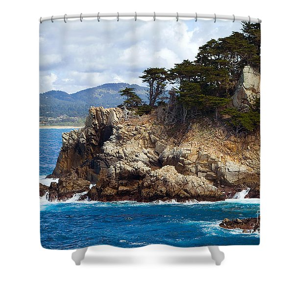 Rocky Outcropping At Point Lobos Shower Curtain
