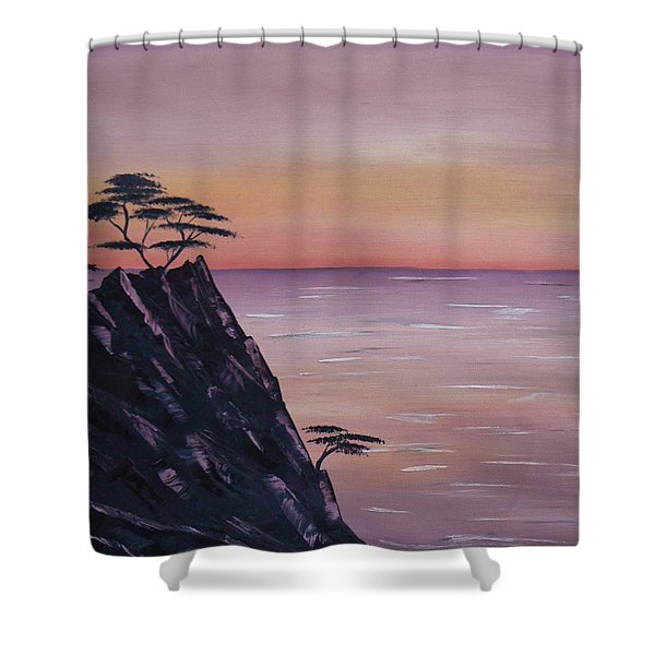 Rocky Sunset Shower Curtain