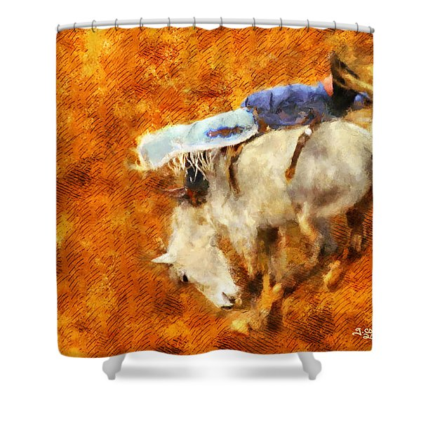 Eight-second Ride Shower Curtain