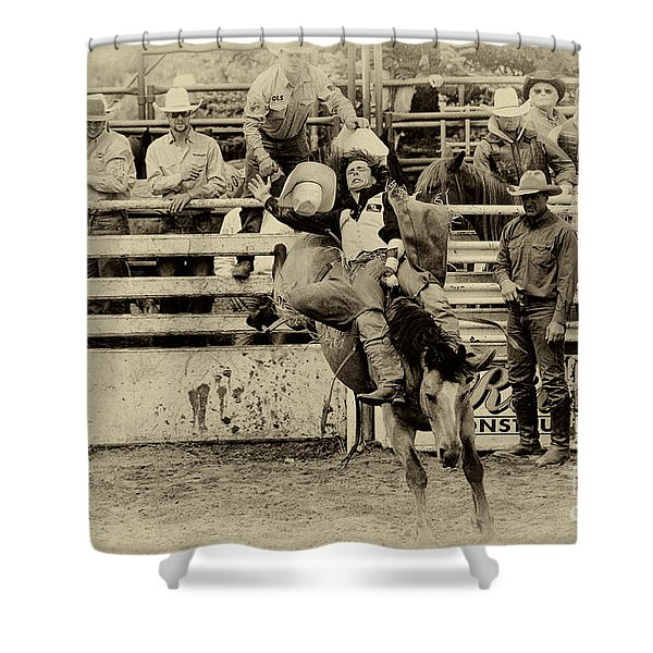 Rodeo Every Move He Makes Shower Curtain