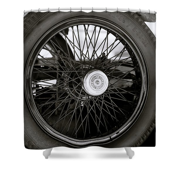 Rolls Royce Wheel Shower Curtain
