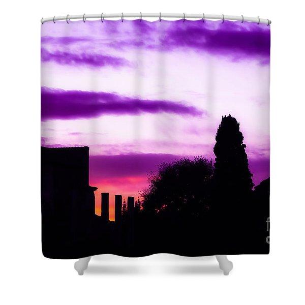 Roman Sunrise Shower Curtain