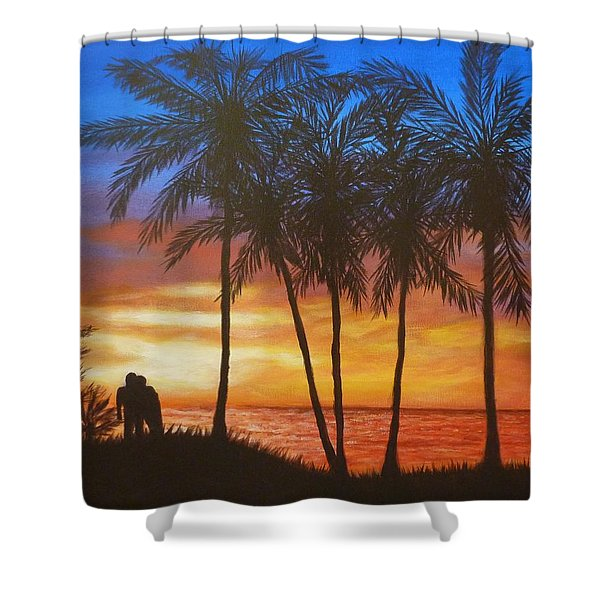 Romance In Paradise Shower Curtain