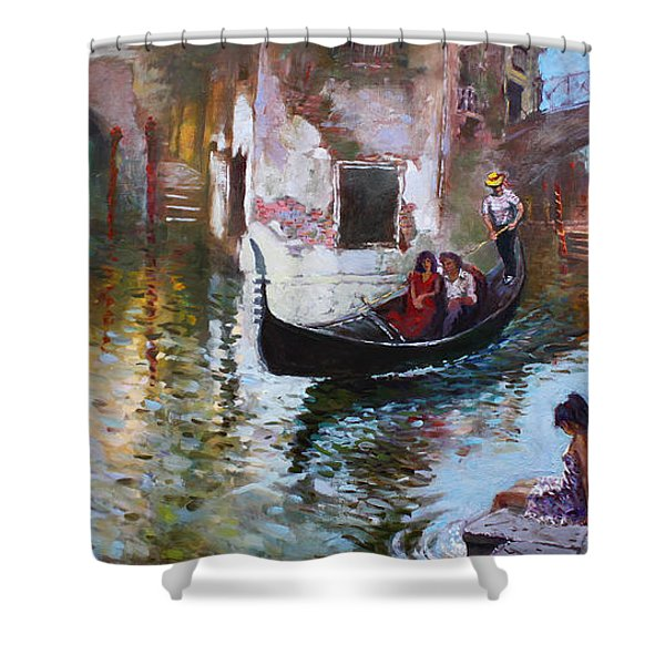 Romance In Venice 2013 Shower Curtain