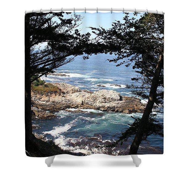 Romantic California Coast Shower Curtain