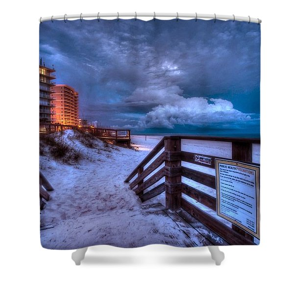 Romar Beach Clouds Shower Curtain