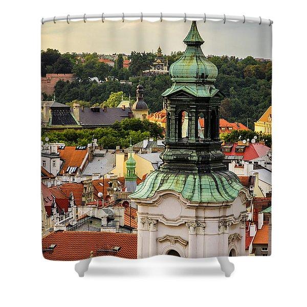 Rooftops Of Prague 1 Shower Curtain