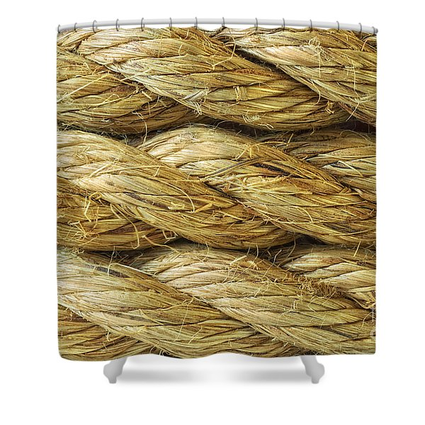 Rope Background Texture Shower Curtain