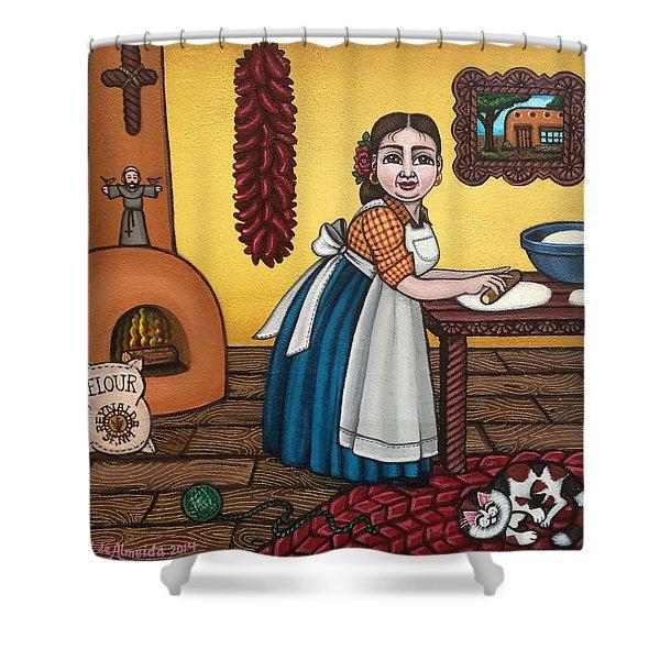 Rosas Kitchen Shower Curtain