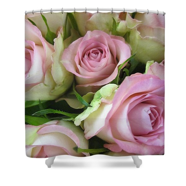 Rose Bed Shower Curtain