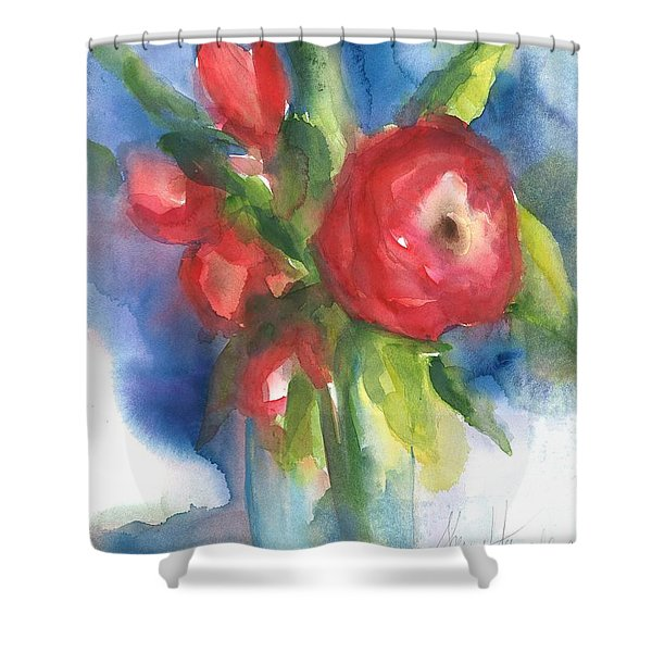 Rose Blooming Shower Curtain