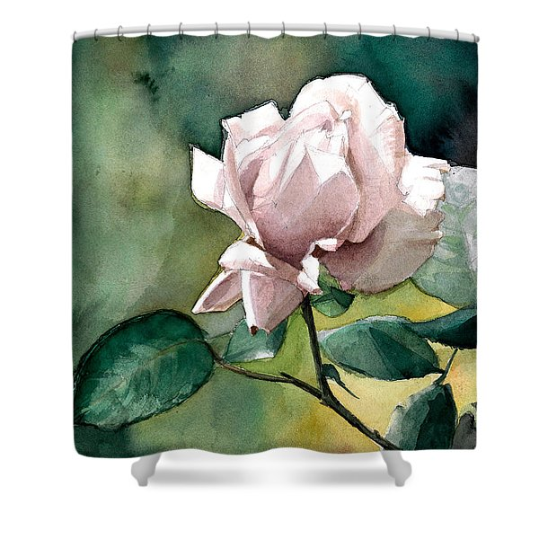 Watercolor Of A Lilac Rose  Shower Curtain