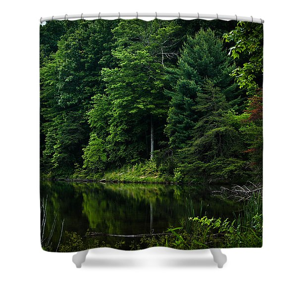 Rose Lake Beauty Shower Curtain