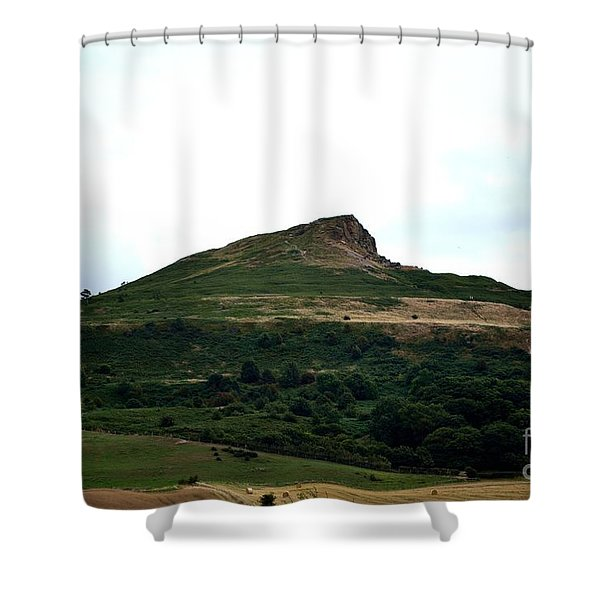 Shower Curtain featuring the photograph Roseberry Topping Hill by Scott Lyons