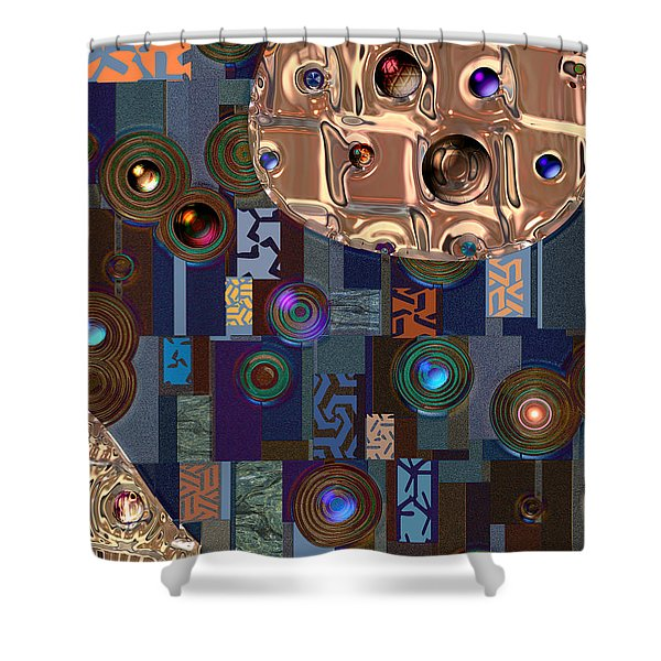 Rosegold River Shower Curtain