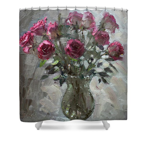 Roses For Viola Shower Curtain
