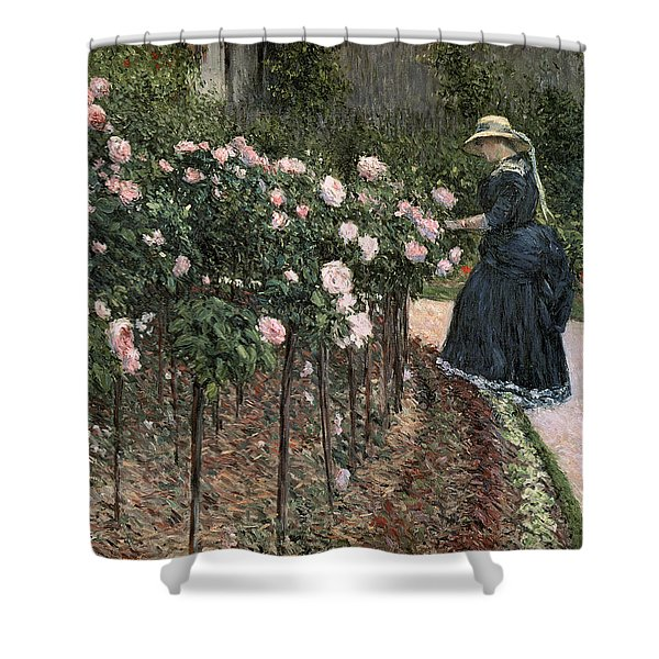Roses In The Garden At Petit Gennevilliers Shower Curtain