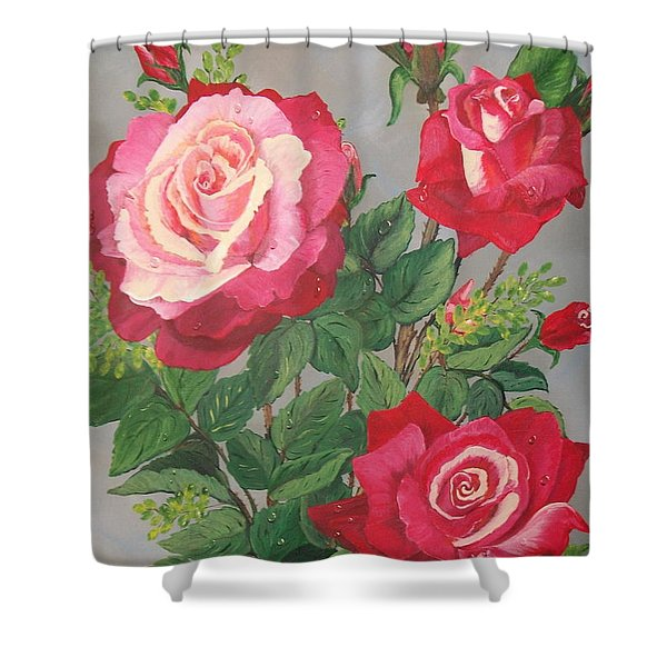 Roses N' Rain Shower Curtain