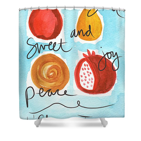 Rosh Hashanah Blessings Shower Curtain