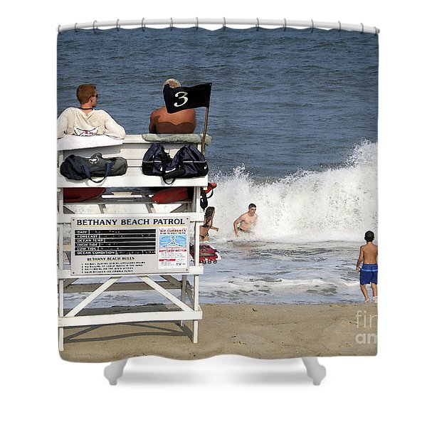 Rough Water At Bethany Beach In Delaware  Shower Curtain