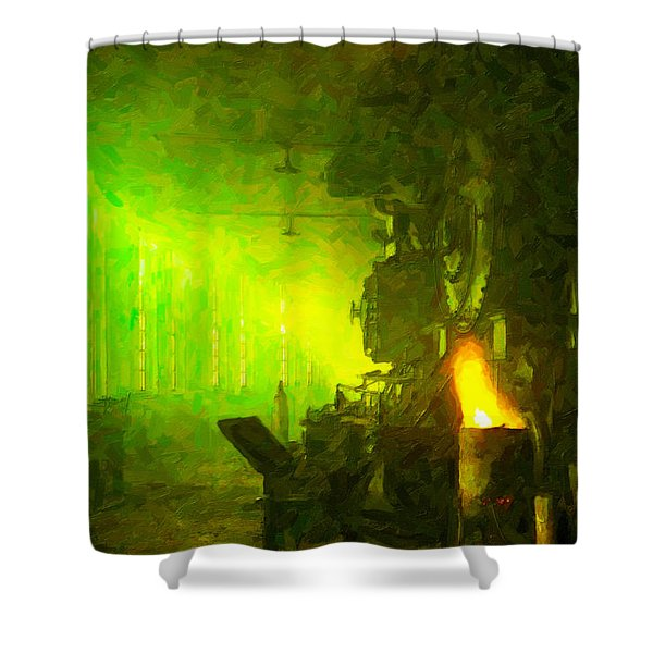 Roundhouse Morning Shower Curtain