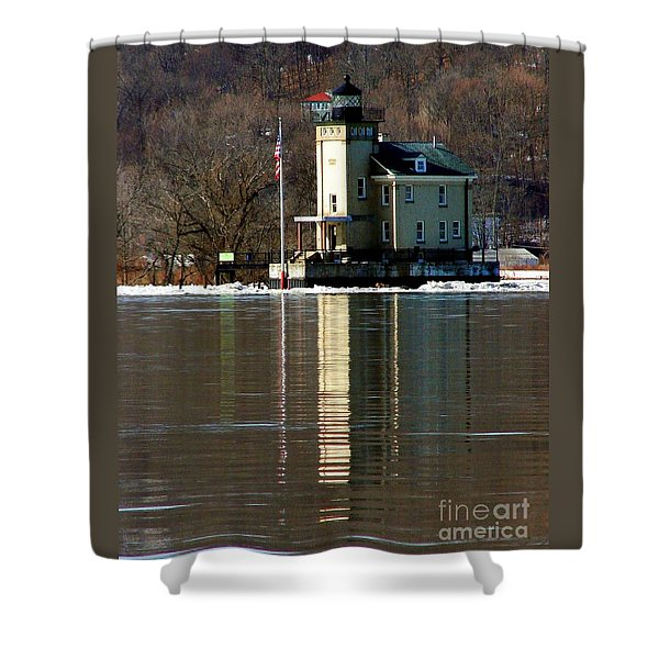 Roundout Lighthouse Shower Curtain