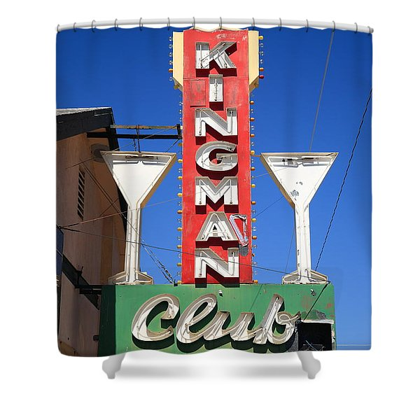 Route 66 - Kingman Club Shower Curtain