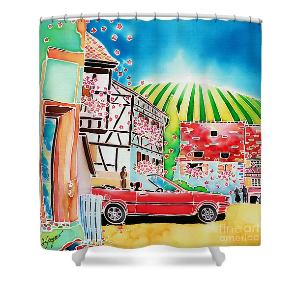 Route Des Vins Shower Curtain