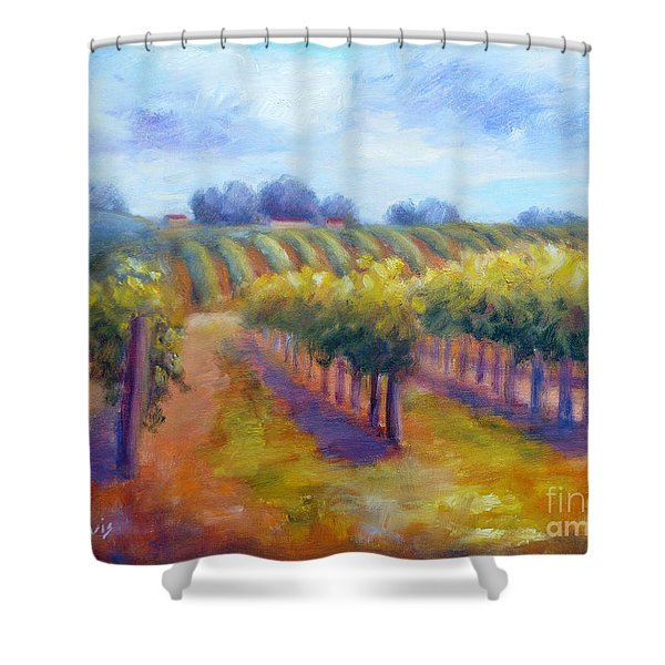 Rows Of Vines Shower Curtain