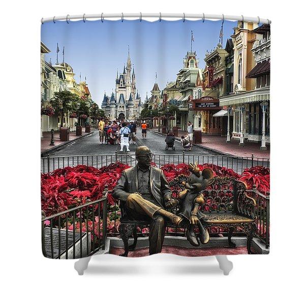 Roy And Minnie Mouse Walt Disney World Shower Curtain