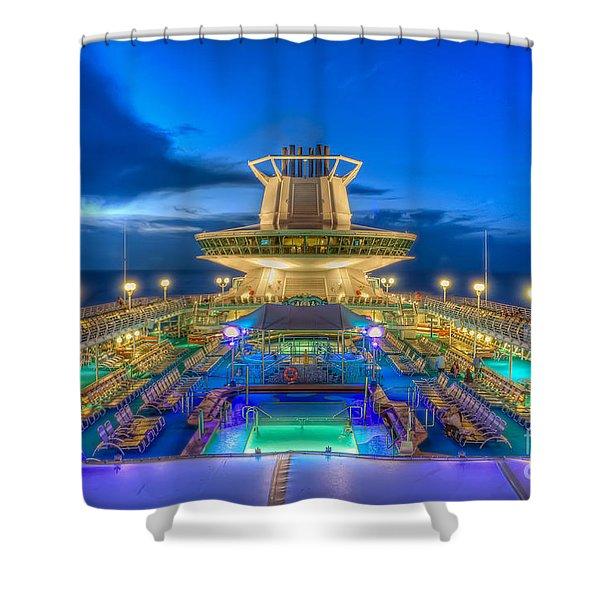 Royal Carribean Cruise Ship  Shower Curtain