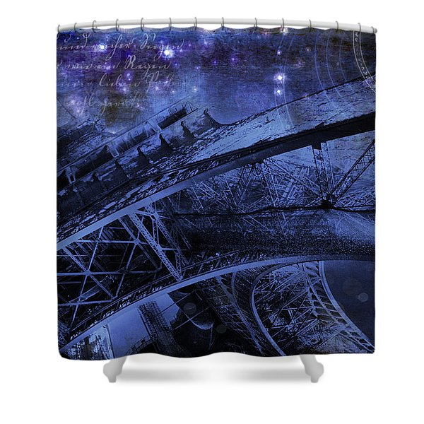Royal Eiffel Tower Shower Curtain