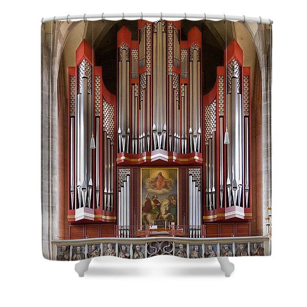 Royal Red King Of Instruments Shower Curtain