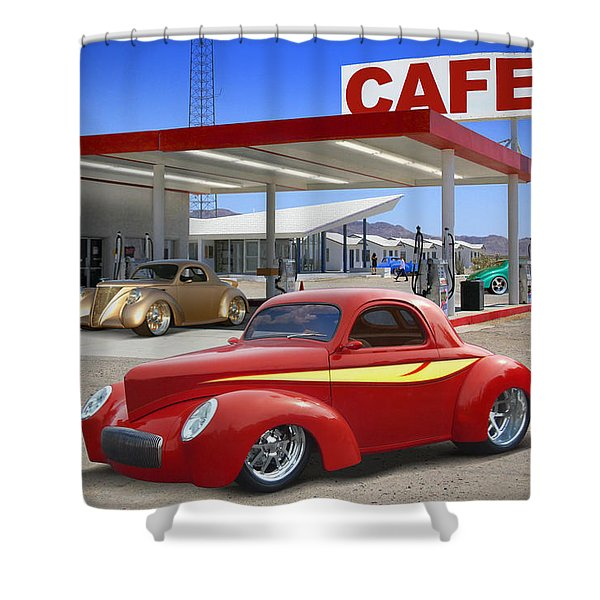 Roy's Gas Station 2 Shower Curtain