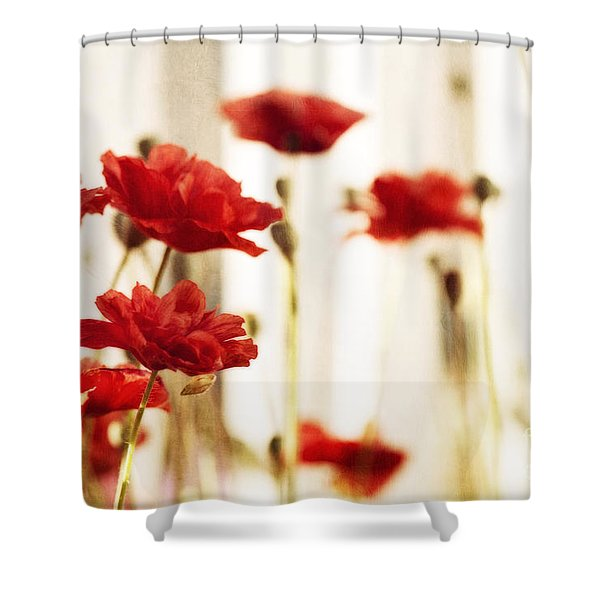 Ruby Reds Shower Curtain