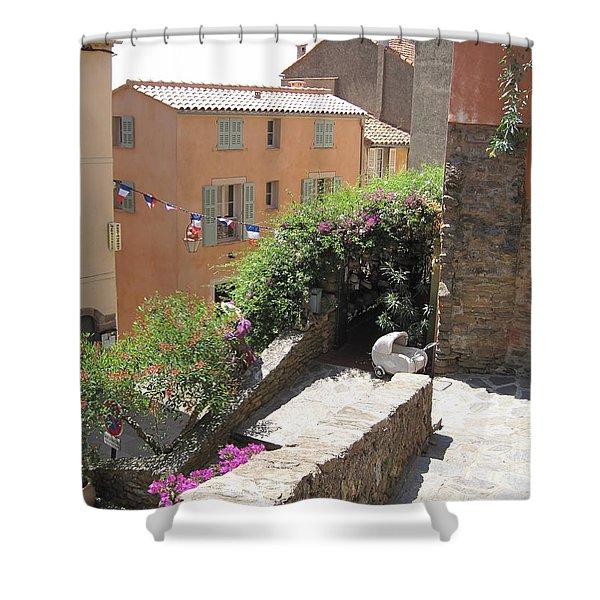 Rue De La Rose Shower Curtain