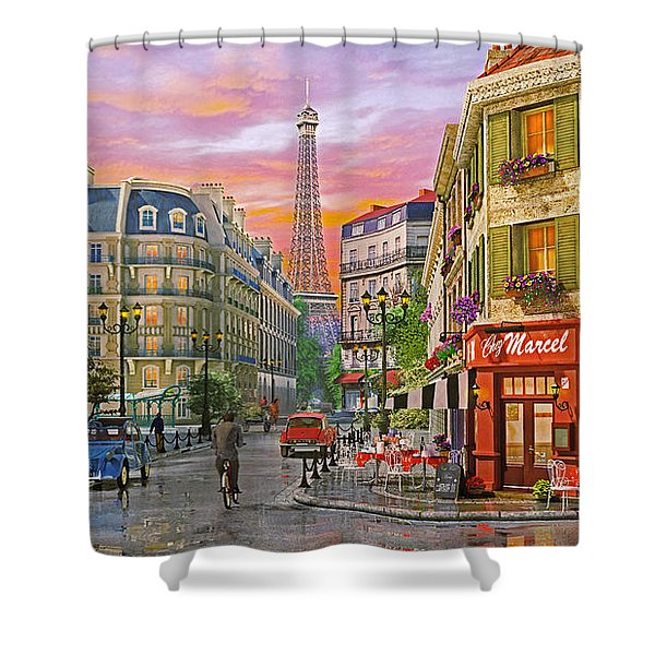 Rue Paris Shower Curtain
