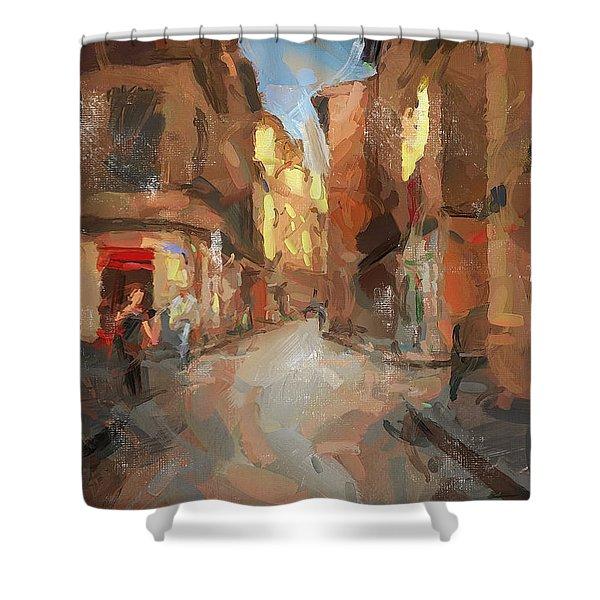Rue Du Doyenne Shower Curtain
