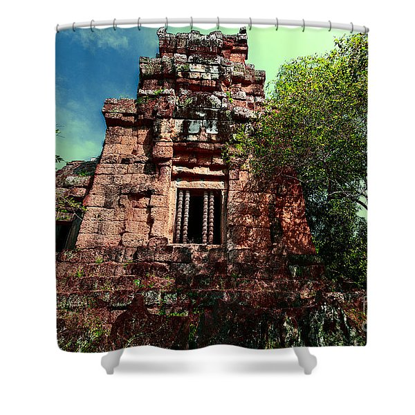 Ruin At Angkor Shower Curtain