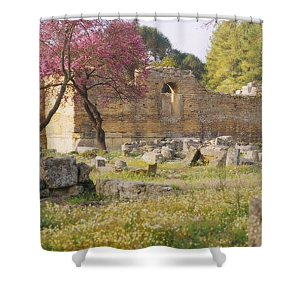 Ruins Of A Building, Ancient Olympia Shower Curtain