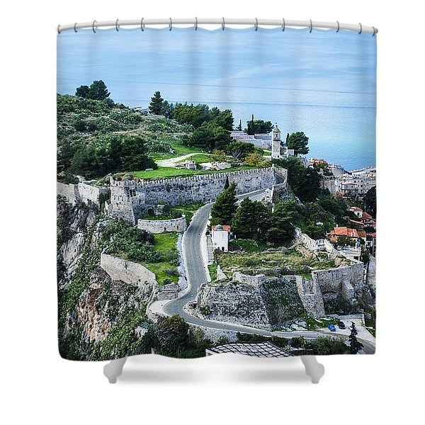 Ruins Of Acronafplia Shower Curtain