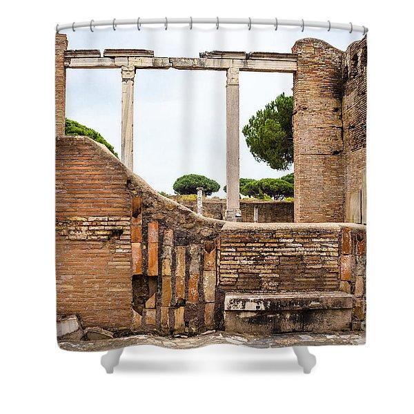 Ruins Of Ostia Antica Shower Curtain