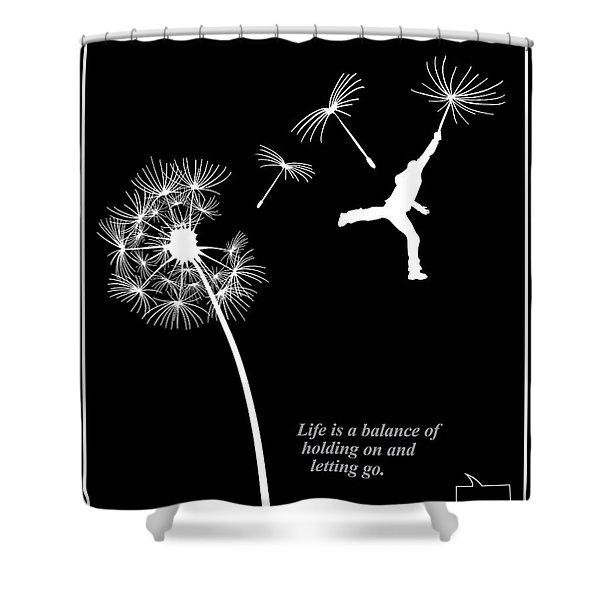 Shower Curtain featuring the painting Rumi Inspirational Quote by Sassan Filsoof