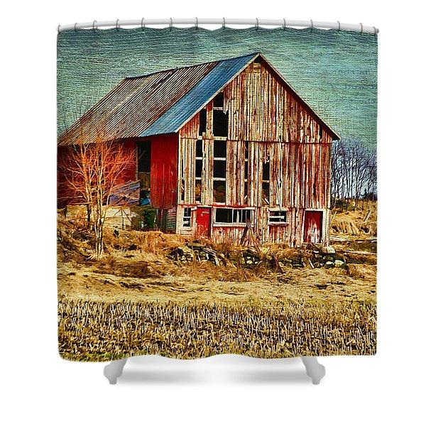 Rural Rustic Vermont Scene Shower Curtain
