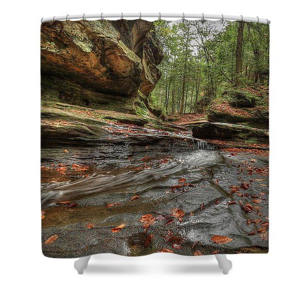 Rush To Old Man's Cave Shower Curtain