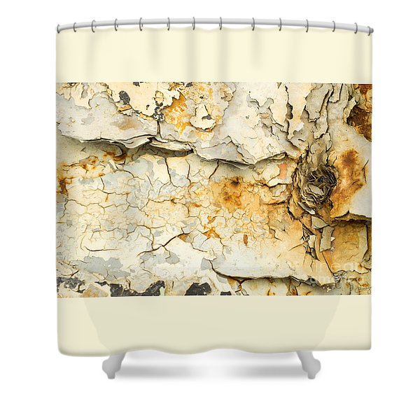 Rust And Peeling Paint Shower Curtain