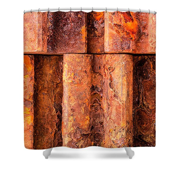 Rusted Gears  Shower Curtain