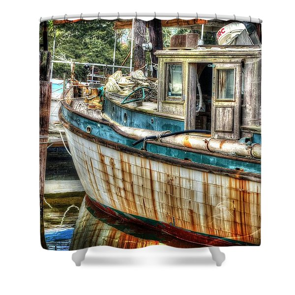 Rusted Wood Shower Curtain