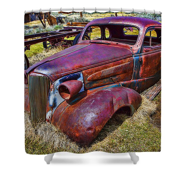 Rusting Away Auto Shower Curtain