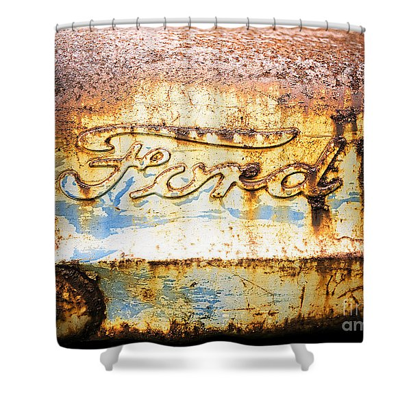 Rusty Old Ford Closeup Shower Curtain